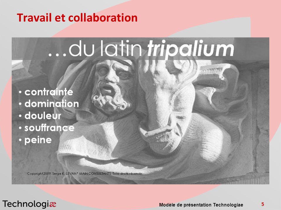 Travail et collaboration Modèle de présentation Technologiae 5