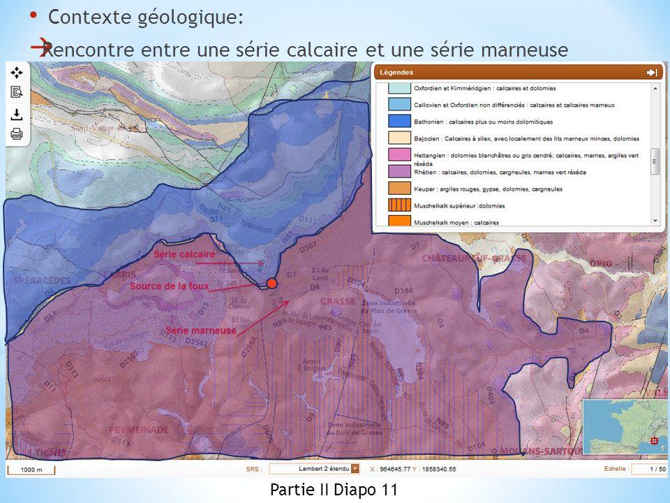 Contexte géologique: Rencontre entre une série calcaire et une série marneuse Partie II Diapo 11