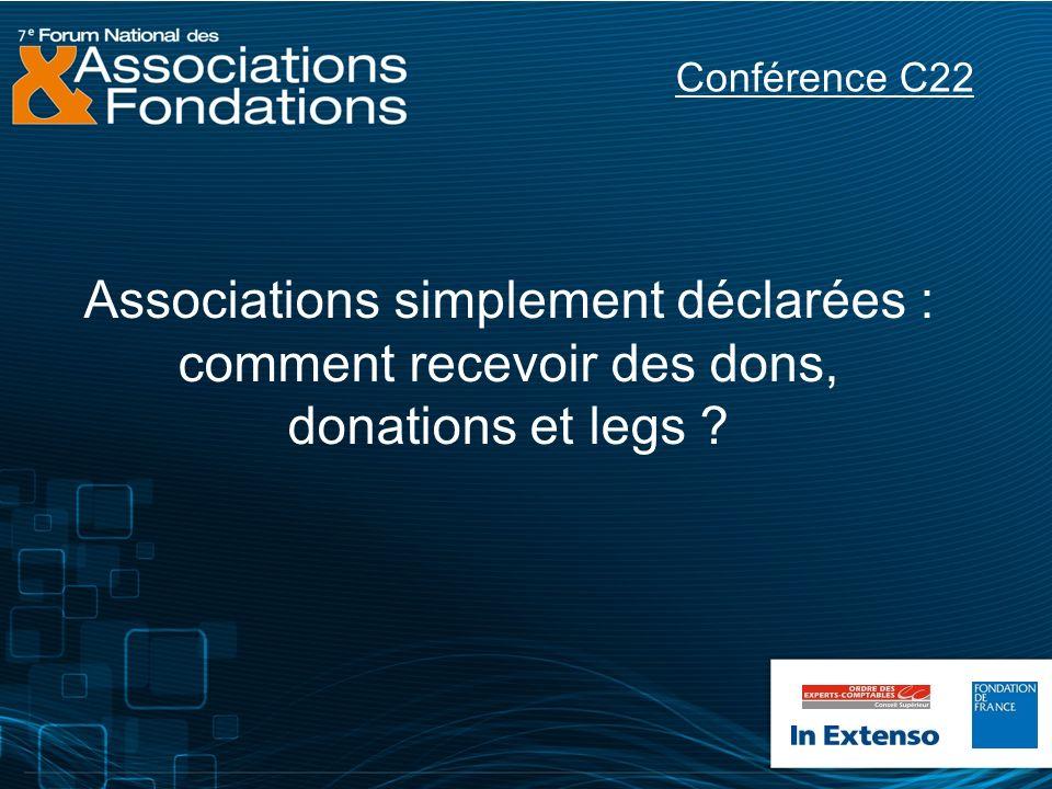 Associations simplement déclarées : comment recevoir des dons, donations et legs ? Conférence C22