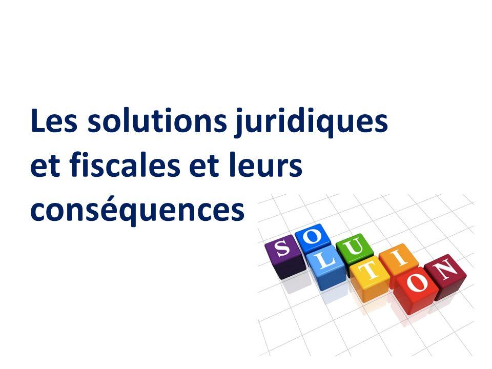Les solutions juridiques et fiscales et leurs conséquences