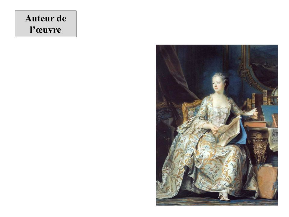Description de lœuvre Portrait en pied de la marquise de Pompadour Maurice Quentin de La Tour, 1755.