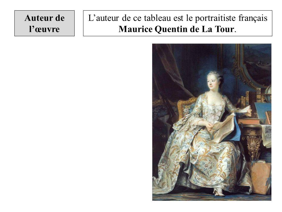 Auteur de lœuvre Lauteur de ce tableau est le portraitiste français Maurice Quentin de La Tour.
