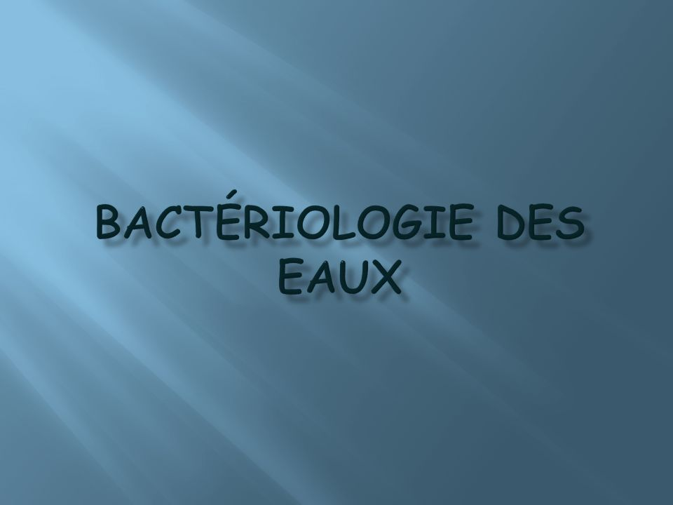 Principe: Léchantillon deau à analyser est filtré à Travers une membrane qui retient les micro organisme.
