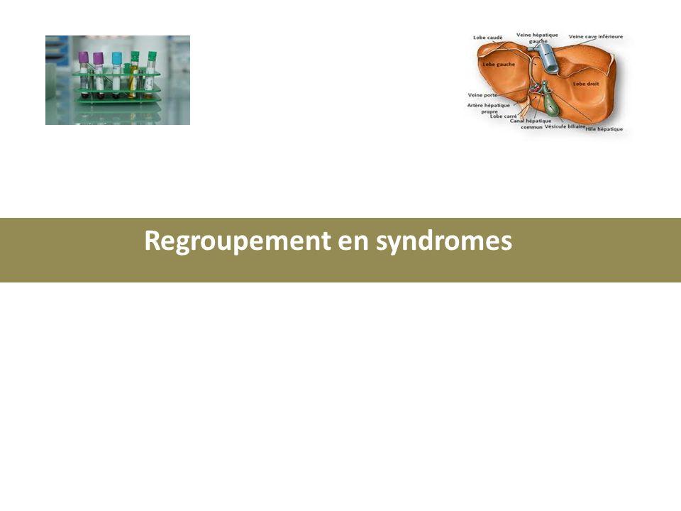 Regroupement en syndromes