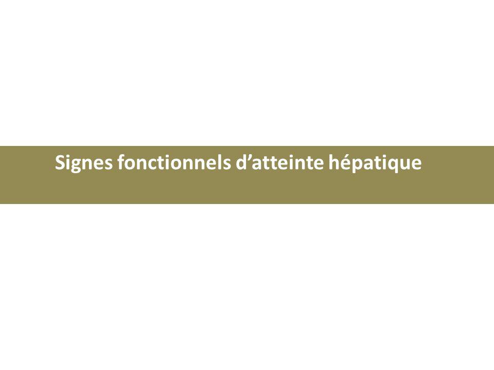 Signes fonctionnels datteinte hépatique