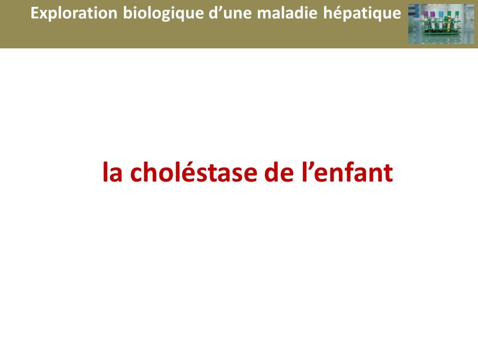 b la choléstase de lenfant Exploration biologique dune maladie hépatique
