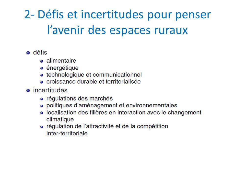 2- Défis et incertitudes pour penser lavenir des espaces ruraux