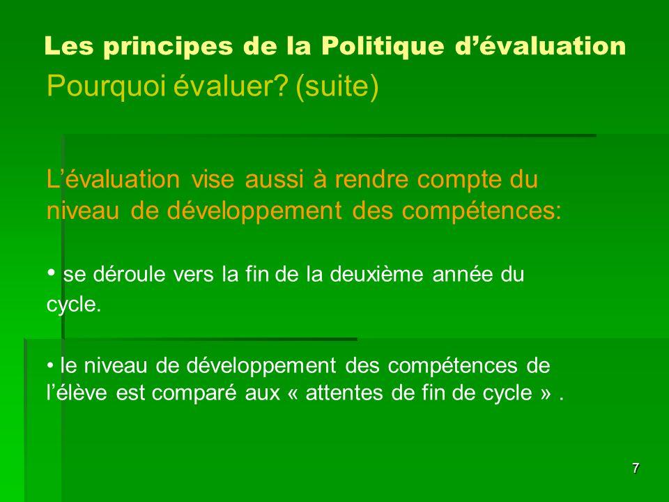 58 Le cadre réglementaire La structure des échelles des niveaux de compétences