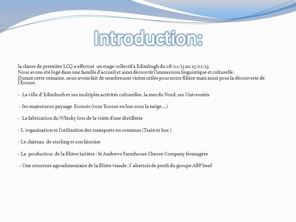 la classe de première LCQ a effectué un stage collectif à Edimbugh du 08/02/13 au 15/02/13.