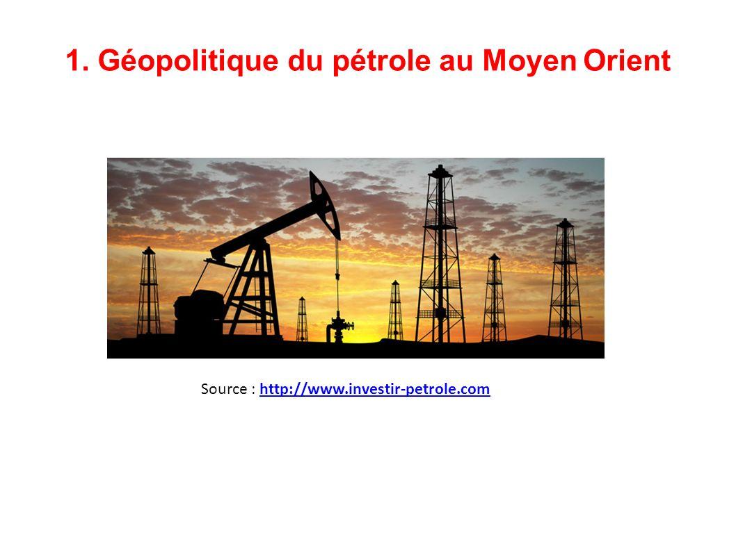 1. Géopolitique du pétrole au Moyen Orient Source : http://www.investir-petrole.comhttp://www.investir-petrole.com