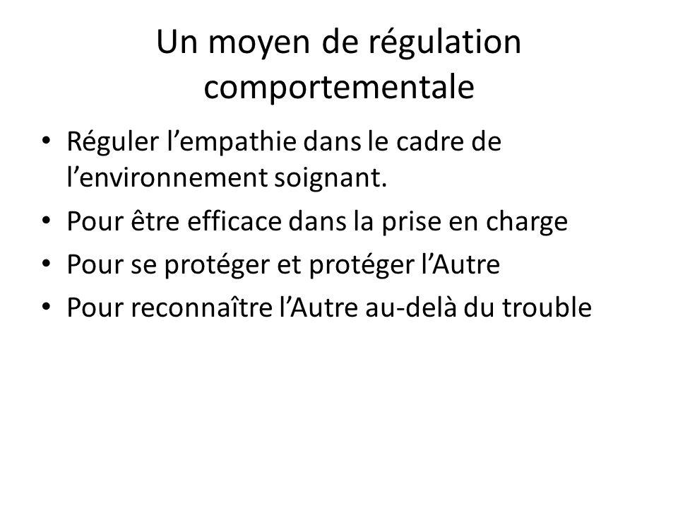 Un moyen de régulation comportementale Réguler lempathie dans le cadre de lenvironnement soignant. Pour être efficace dans la prise en charge Pour se