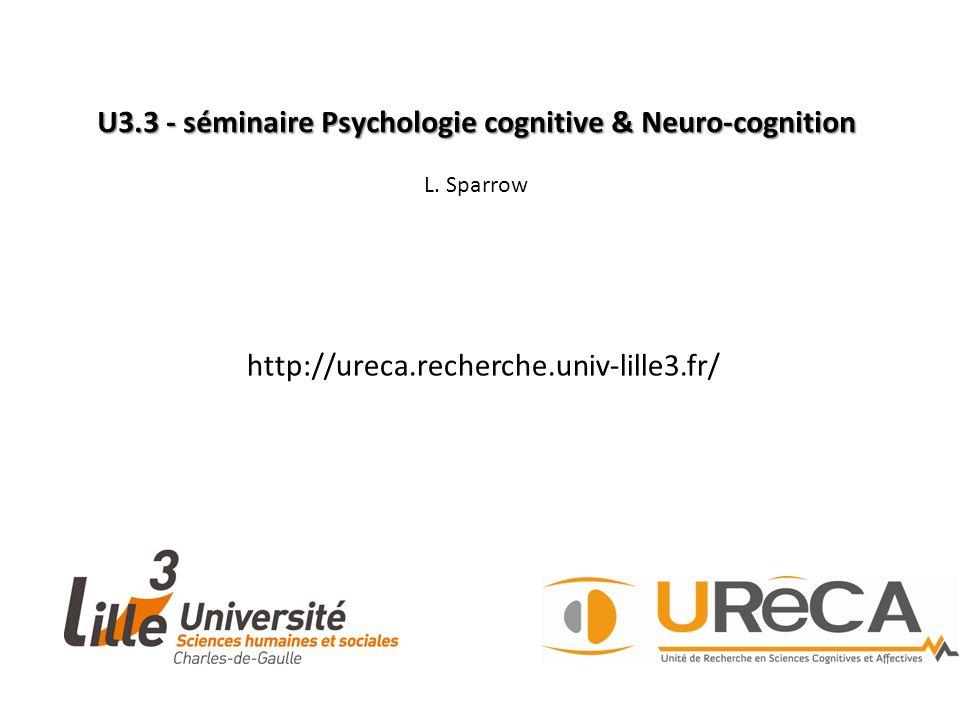 U3.3 - séminaire Psychologie cognitive & Neuro-cognition L.