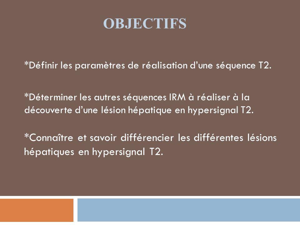 MATÉRIELS ET MÉTHODES Etude rétrospective basée sur une série dIRM hépatiques, réalisée entre 2009 et 2011 pour la caractérisation de lésions hépatiques focales de découverte fortuite, échographique ou scanographique, ou dans le cadre dun contexte néoplasique ou cirrhotique.