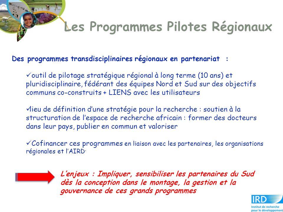 Les Programmes Pilotes Régionaux Des programmes transdisciplinaires régionaux en partenariat : outil de pilotage stratégique régional à long terme (10