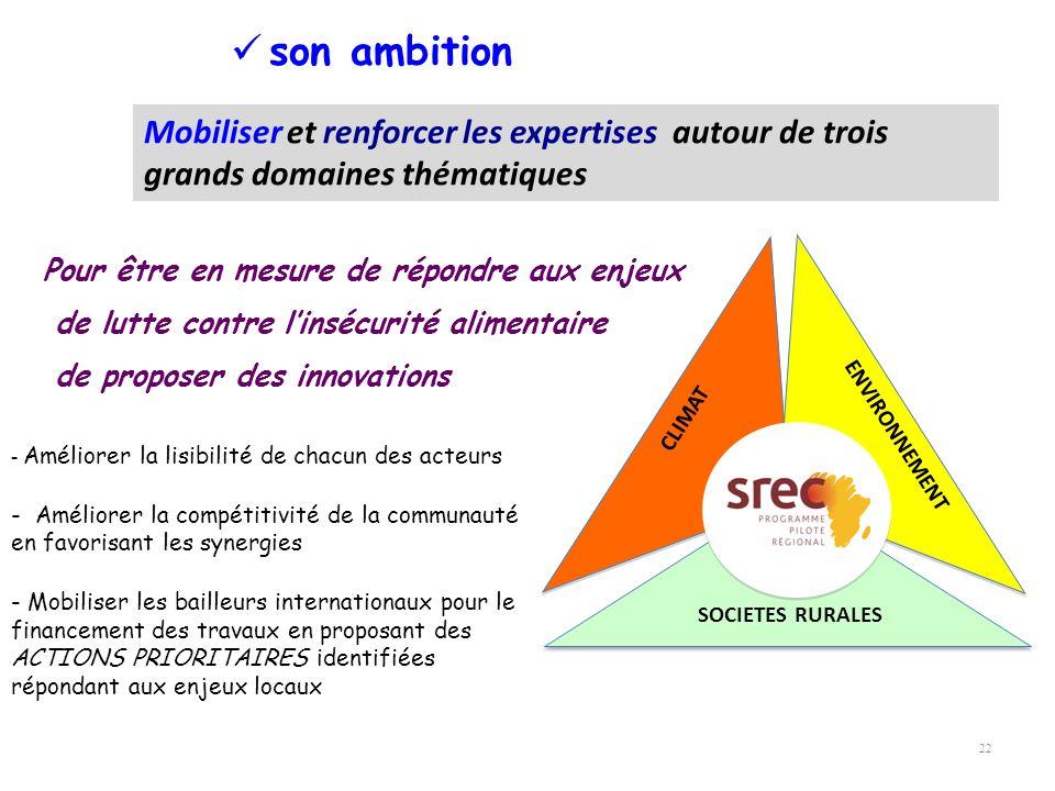 22 son ambition Mobiliser et renforcer les expertises autour de trois grands domaines thématiques Pour être en mesure de répondre aux enjeux de lutte