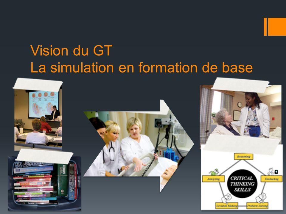 Vision du GT La simulation en formation de base
