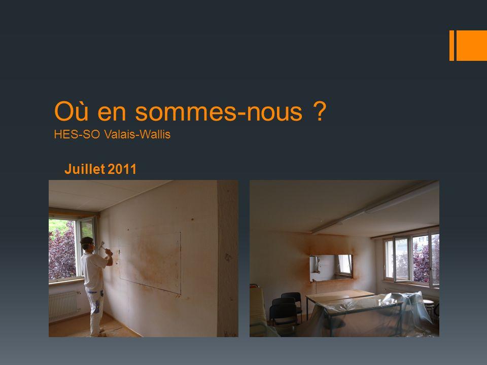 Juillet 2011 Où en sommes-nous ? HES-SO Valais-Wallis