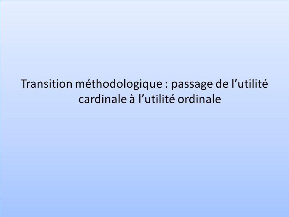 Transition méthodologique : passage de lutilité cardinale à lutilité ordinale
