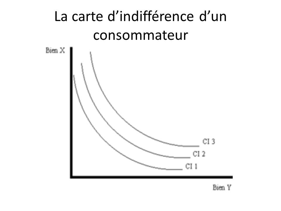 La carte dindifférence dun consommateur
