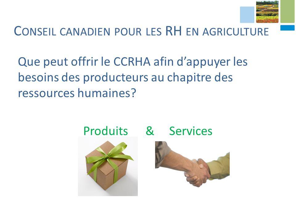 Que peut offrir le CCRHA afin dappuyer les besoins des producteurs au chapitre des ressources humaines.