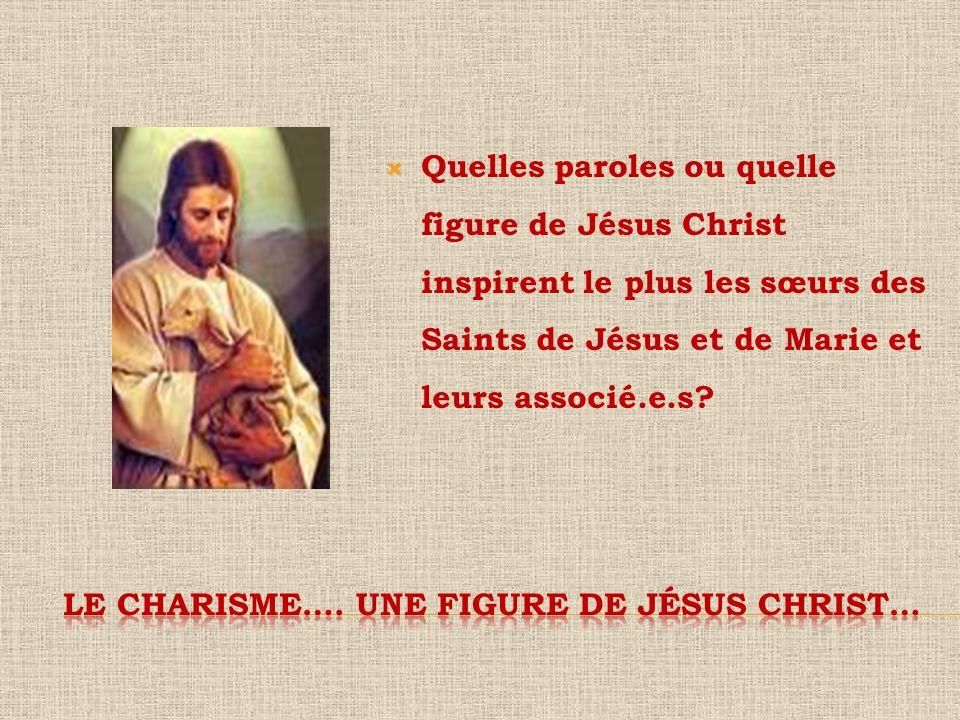 Quelles paroles ou quelle figure de Jésus Christ inspirent le plus les sœurs des Saints de Jésus et de Marie et leurs associé.e.s?