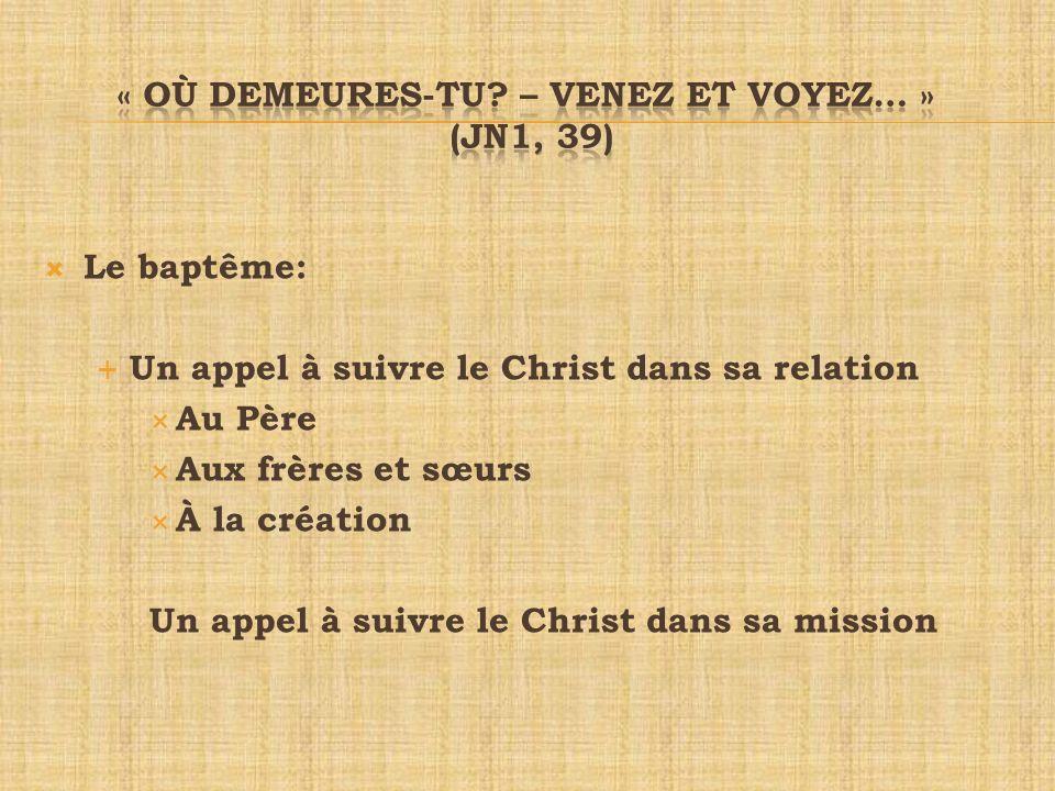 Par le baptême Nous devenons fils et filles de Dieu Disciples du Christ Égale dignité denfants de Dieu Par des chemins divers….