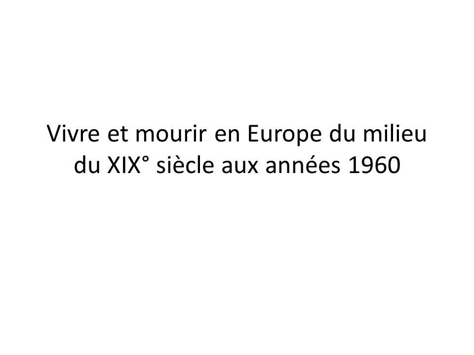 Vivre et mourir en Europe du milieu du XIX° siècle aux années 1960