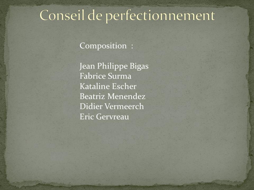 Composition : Jean Philippe Bigas Fabrice Surma Kataline Escher Beatriz Menendez Didier Vermeerch Eric Gervreau