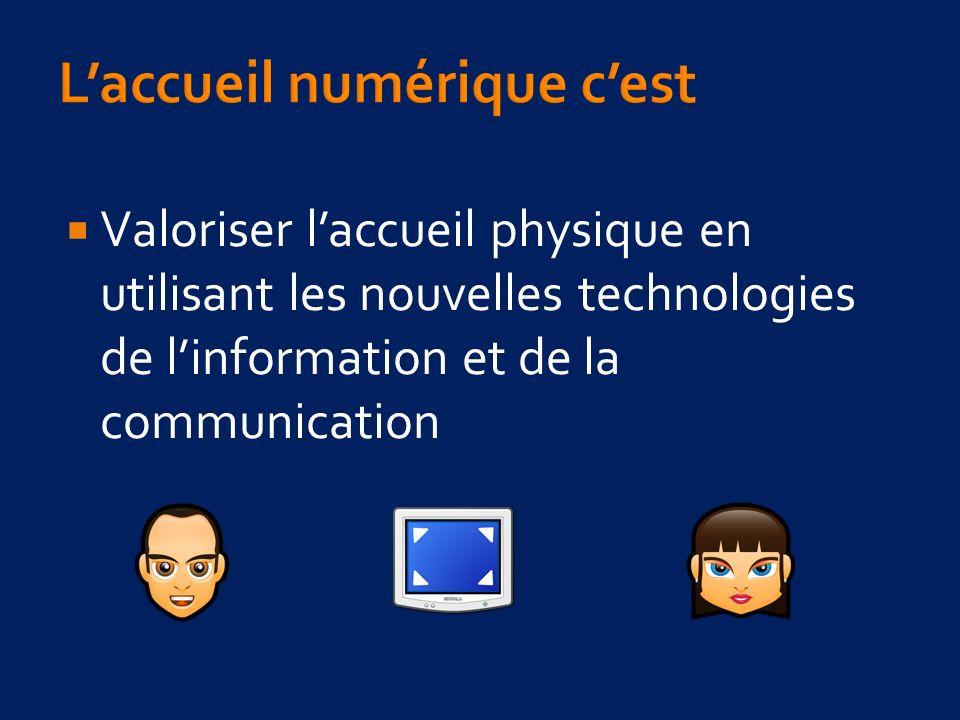 Valoriser laccueil physique en utilisant les nouvelles technologies de linformation et de la communication