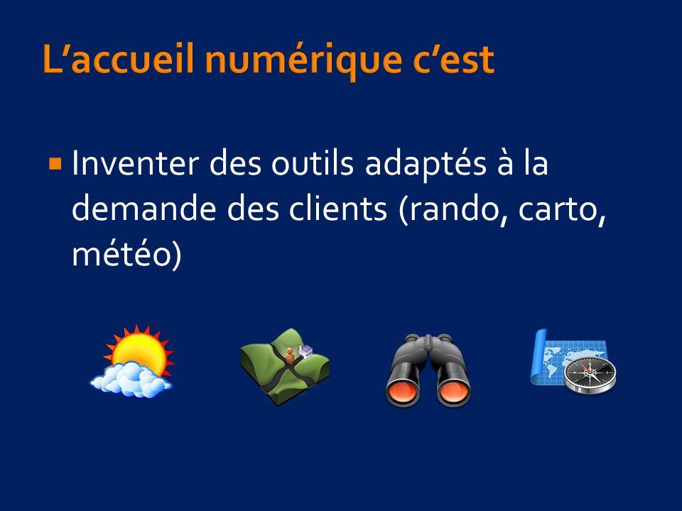 Inventer des outils adaptés à la demande des clients (rando, carto, météo)