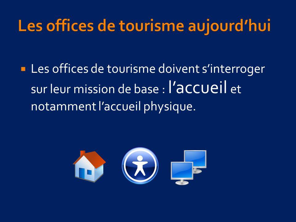 Les offices de tourisme doivent sinterroger sur leur mission de base : laccueil et notamment laccueil physique.