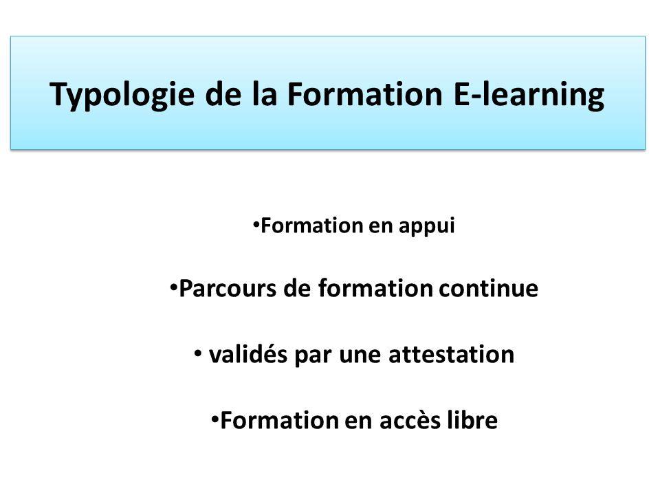 Formation en appui Dans le cadre de cycles de la formation de base et de la formation continue, Peuvent être recommandée par le formateur, en complément de la formation en présentiel et dans loptique de lenrichissement de la qualité de la formation.