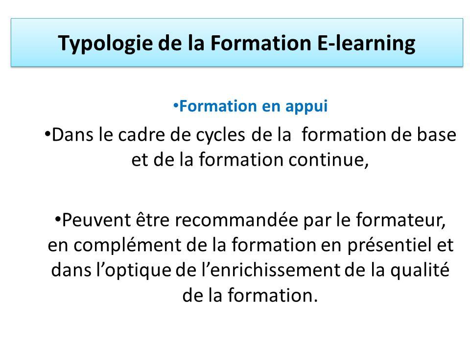 Formation en appui Dans le cadre de cycles de la formation de base et de la formation continue, Peuvent être recommandée par le formateur, en compléme
