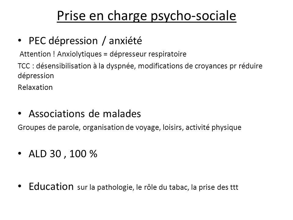 Prise en charge psycho-sociale PEC dépression / anxiété Attention .