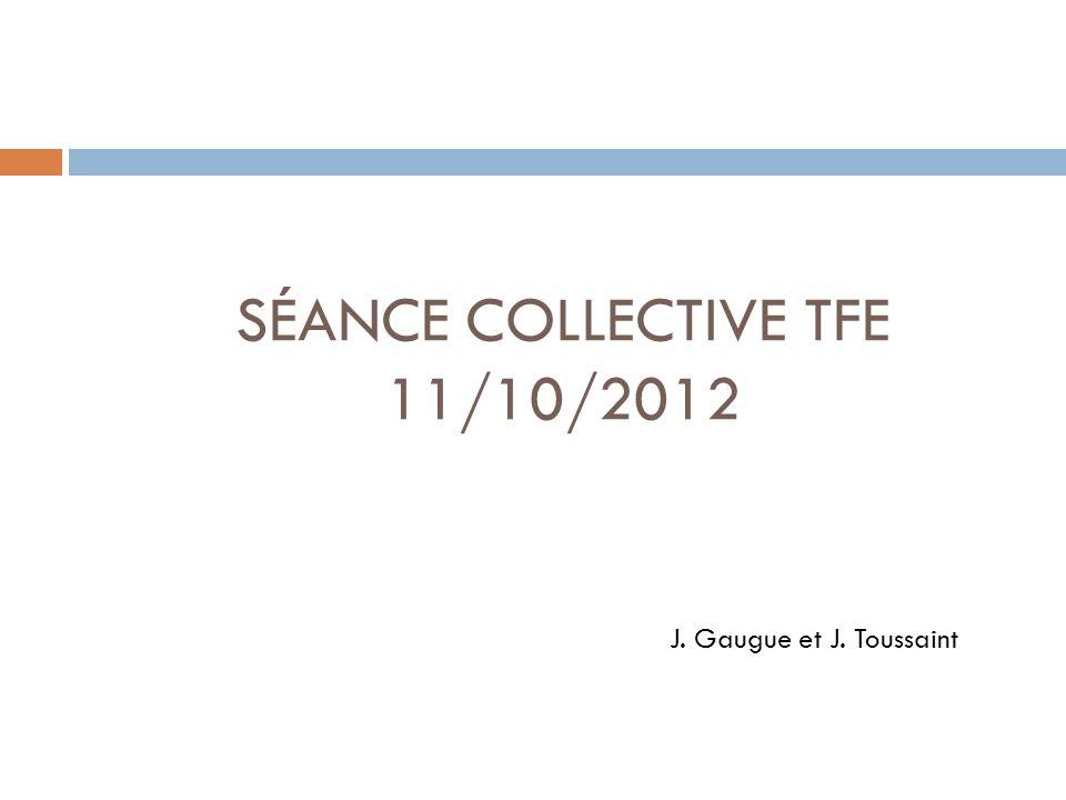 Ordre du jour Tour de table Organisation du TFE Recherche documentaire Présentations: Aurélia Ruelle et Séverine Wester