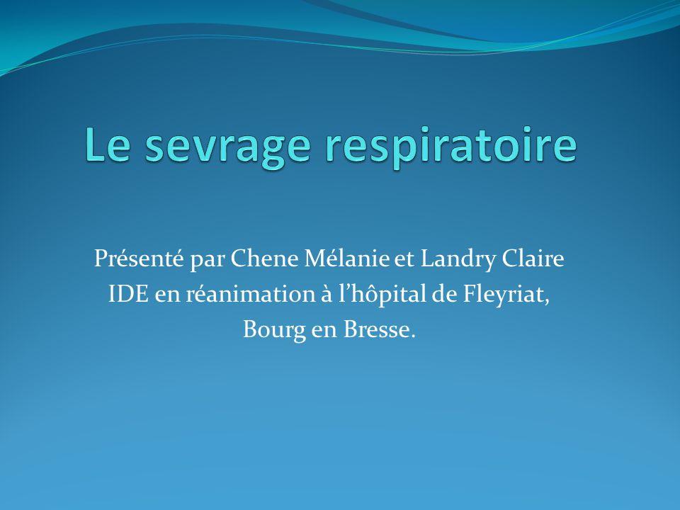 Présenté par Chene Mélanie et Landry Claire IDE en réanimation à lhôpital de Fleyriat, Bourg en Bresse.