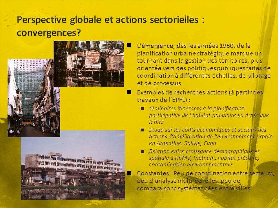 Lémergence, dès les années 1980, de la planification urbaine stratégique marque un tournant dans la gestion des territoires, plus orientée vers des po