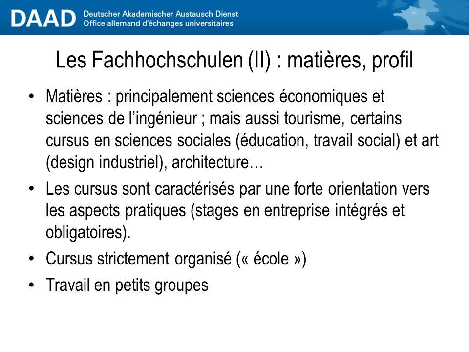 Les Fachhochschulen (I) : historique A la fin des années 1960, le marché du travail allemand a besoin de diplômés qualifiés disposant dexpériences pratiques.