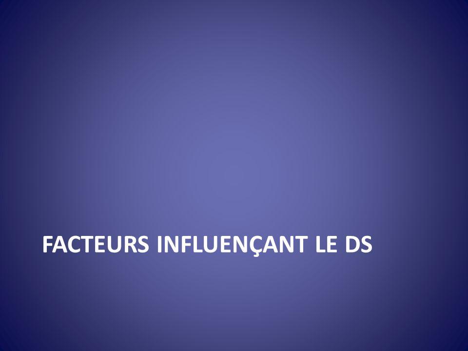 FACTEURS INFLUENÇANT LE DS