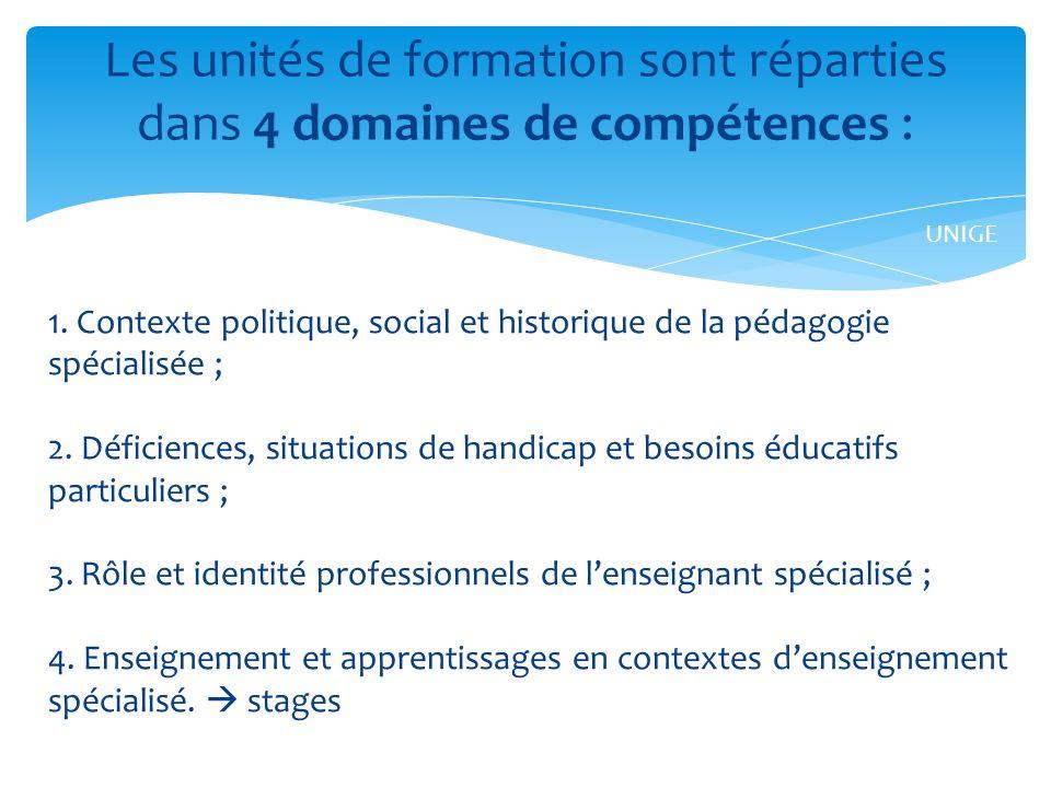 1.Contexte politique, social et historique de la pédagogie spécialisée ; 2.