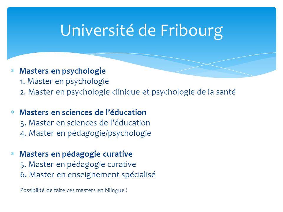 Masters en psychologie 1.Master en psychologie 2.