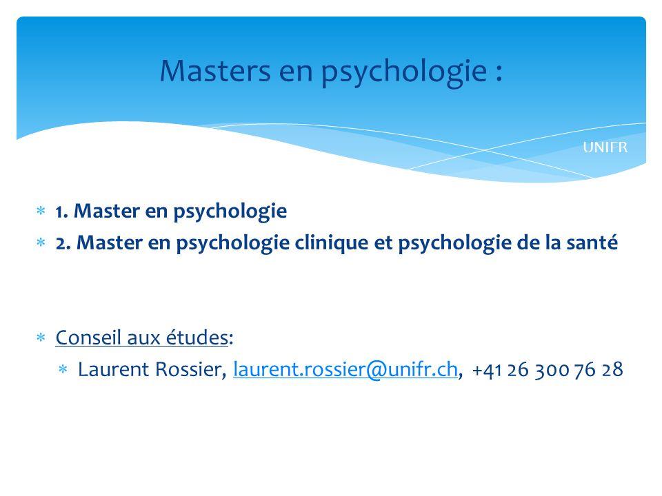 1.Master en psychologie 2.