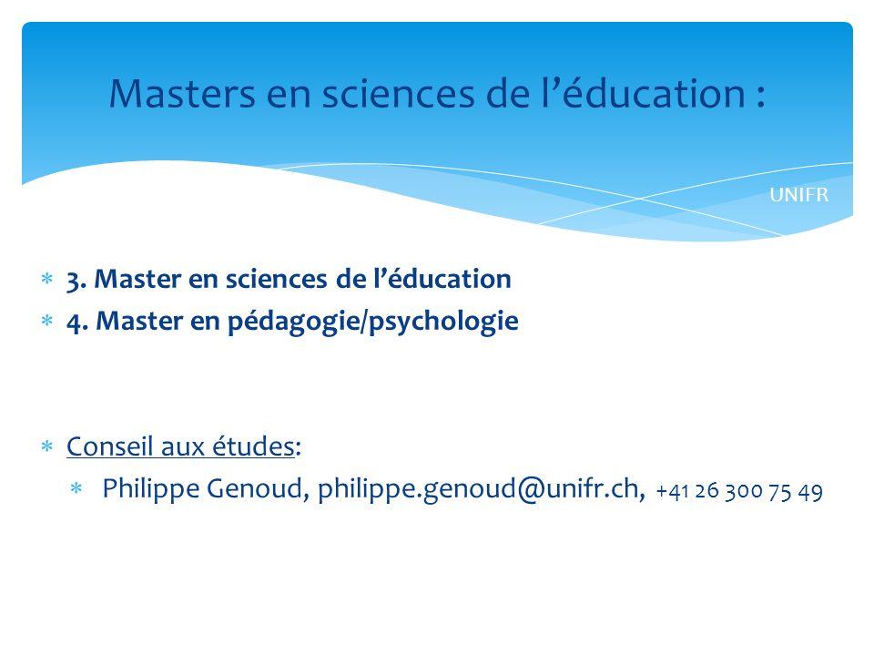 3.Master en sciences de léducation 4.
