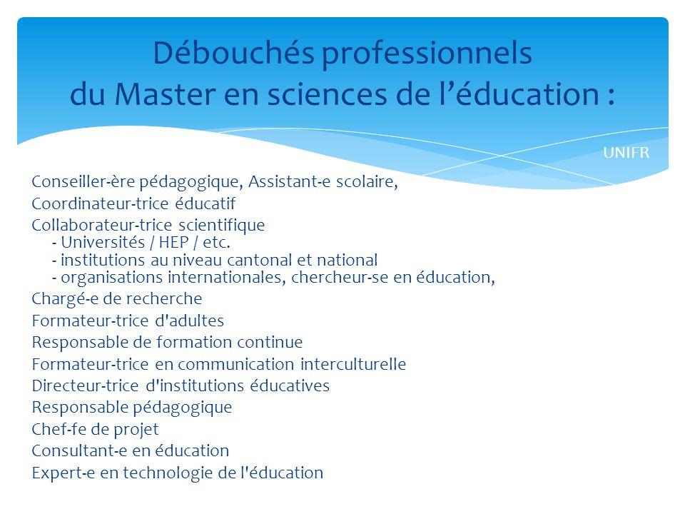 Conseiller-ère pédagogique, Assistant-e scolaire, Coordinateur-trice éducatif Collaborateur-trice scientifique - Universités / HEP / etc.