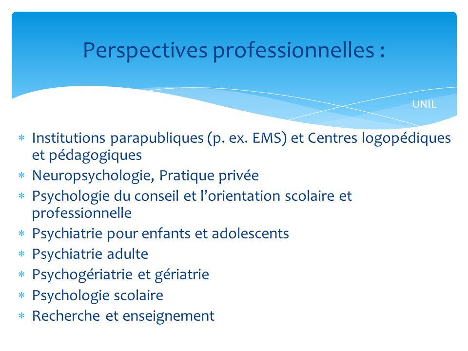 Institutions parapubliques (p.ex.