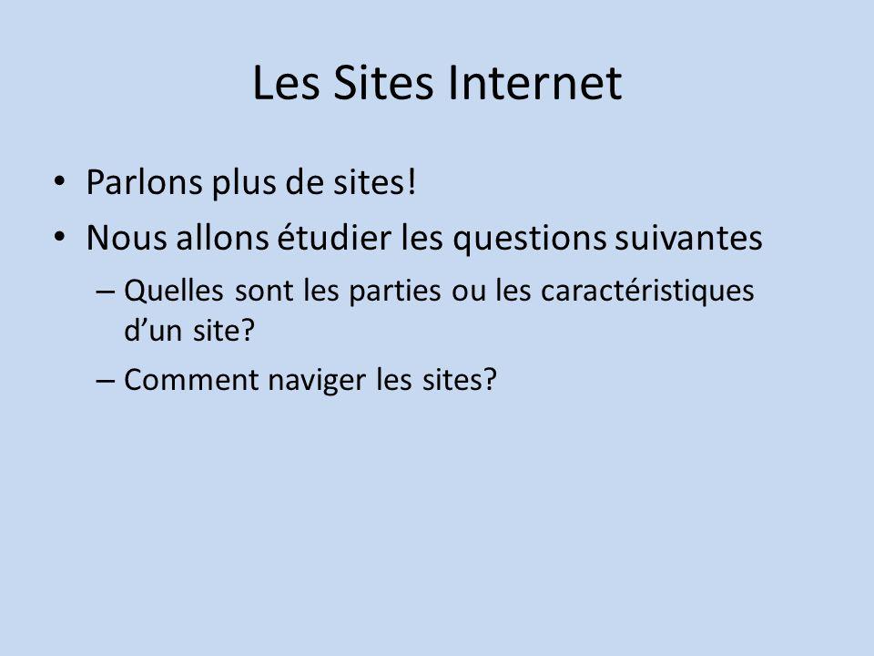 Les Sites Internet Parlons plus de sites.