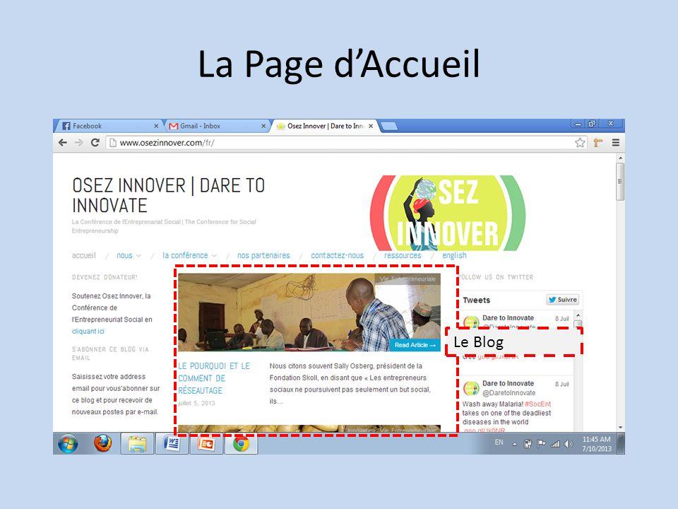 La Page dAccueil Le Blog