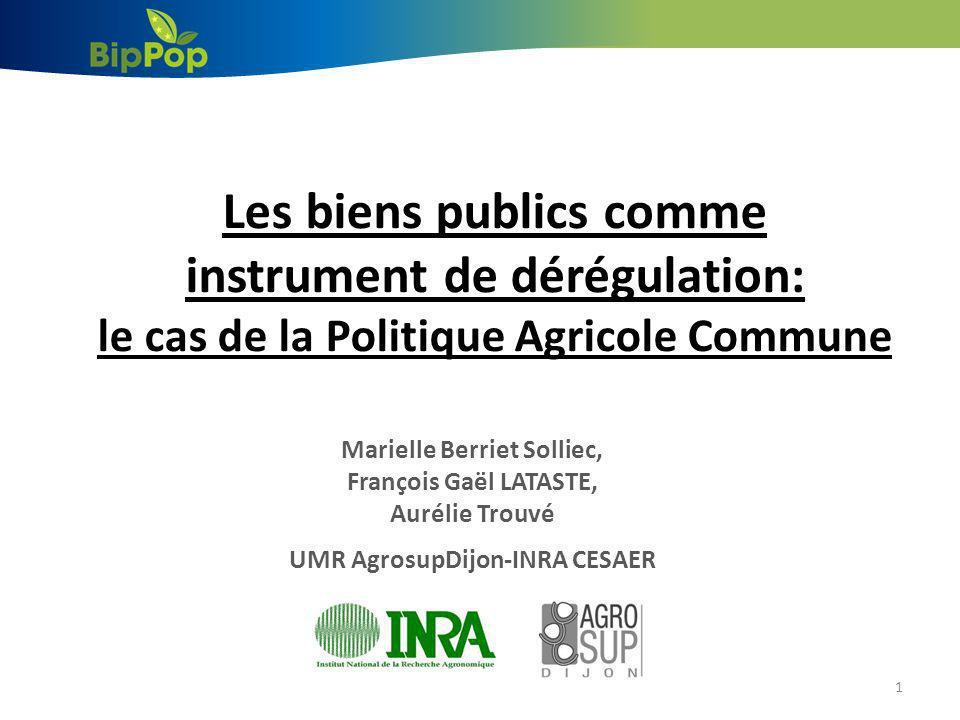 Introduction 2 -Remise en cause de la Politique Agricole Commune (PAC) dans les années 80/90.