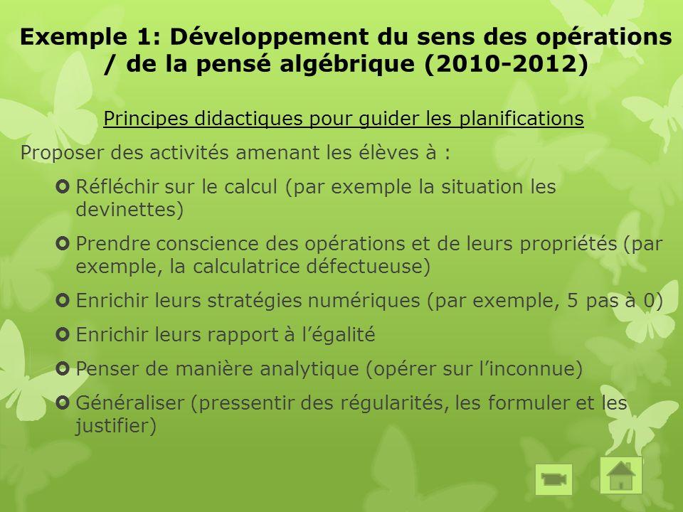 Exemple 2: Développement des compétences mathématiques des élèves à risque (2010-2012)