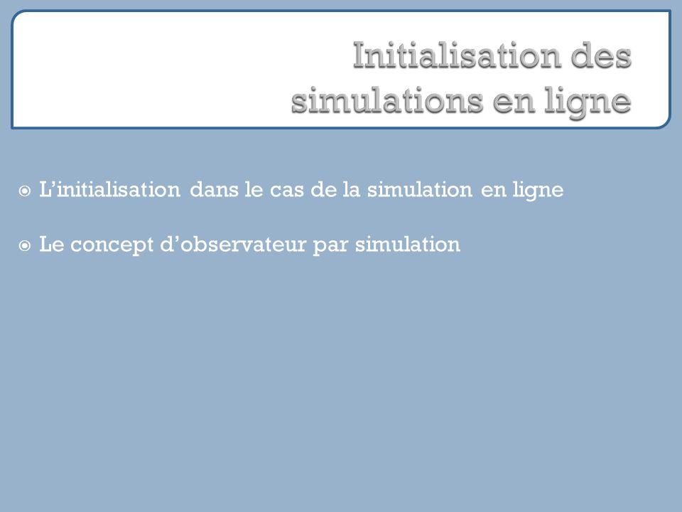 Linitialisation dans le cas de la simulation en ligne Le concept dobservateur par simulation